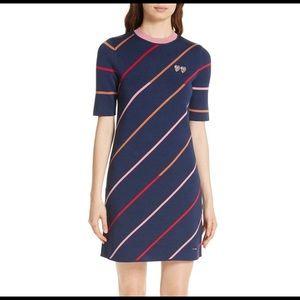 """Ted Baker """"PELINOR"""" Dress Striped Knit Sporty"""